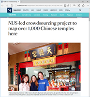 NUS-led crowdsourcing project to map over 1,000 Chinese temples here